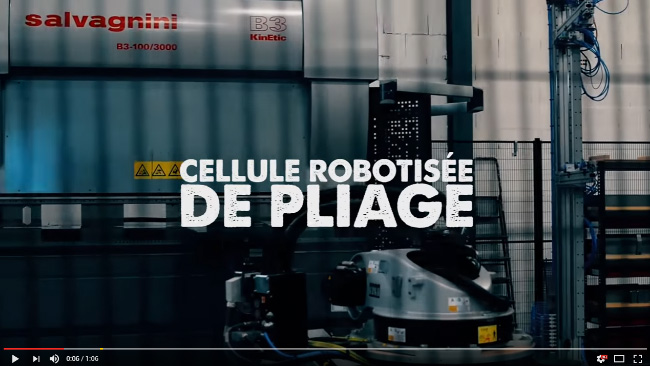 Video Cellule robotisée de pliage chez SORI